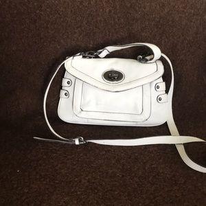 White crossbody bag by Olivia + Joy